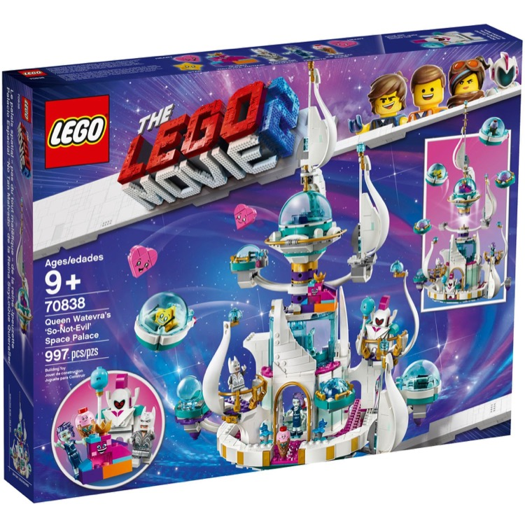 Lego The Lego Movie Sets The Lego Movie 2 70838 Queen Watevra S So Not Evil Space Palace New