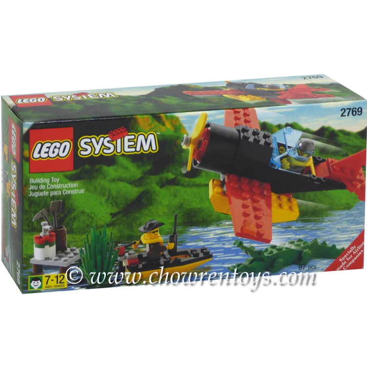 LEGO Town Sets: 2769 Airline Promotional Swamp Plane Dock and Boat NEW