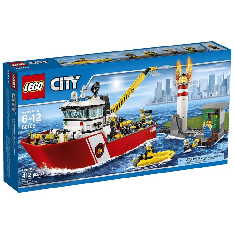 LEGO Town Sets: City 60109 Fire Boat NEW