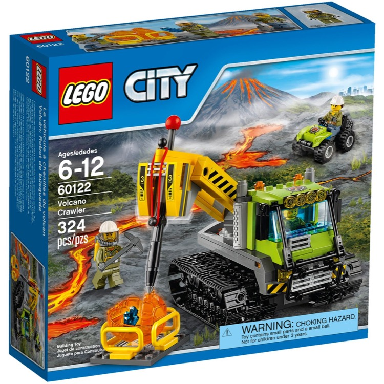 LEGO Town Sets: City 60122 Volcano Crawler Vehicle NEW