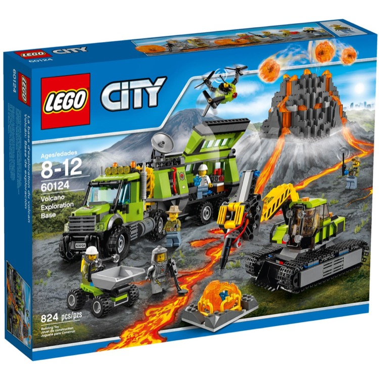 LEGO Town Sets: City 60124 Volcano Research Base NEW