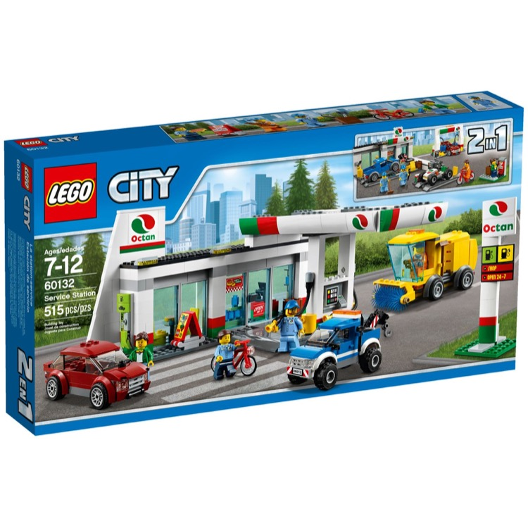 LEGO Town Sets: City 60132 Gas Station NEW