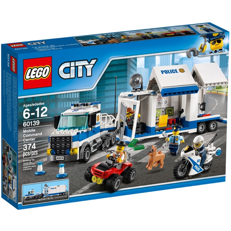 LEGO Town Sets: City 60139 Mobile Command Center NEW *Rough Shape*