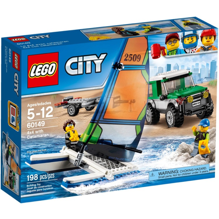LEGO Town Sets: City 60149 4x4 with Catamaran NEW