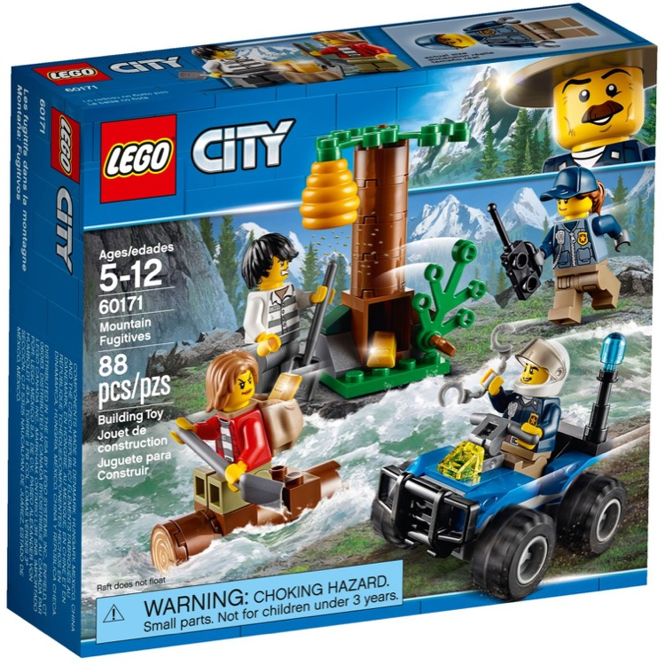 LEGO Town Sets: City 60171 Mountain Fugitives NEW *Rough Shape*
