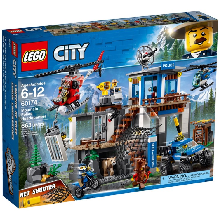 LEGO Town Sets: City 60174 Mountain Police Headquarters NEW