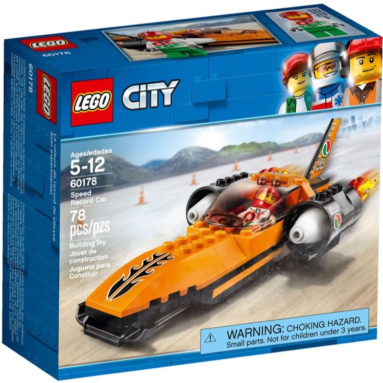 LEGO Town Sets: City 60178 Speed Record Car NEW