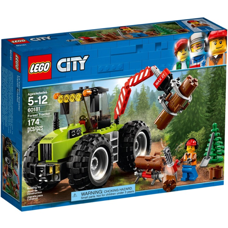 LEGO Town Sets: City 60181 Forest Tractor NEW *Rough Shape*
