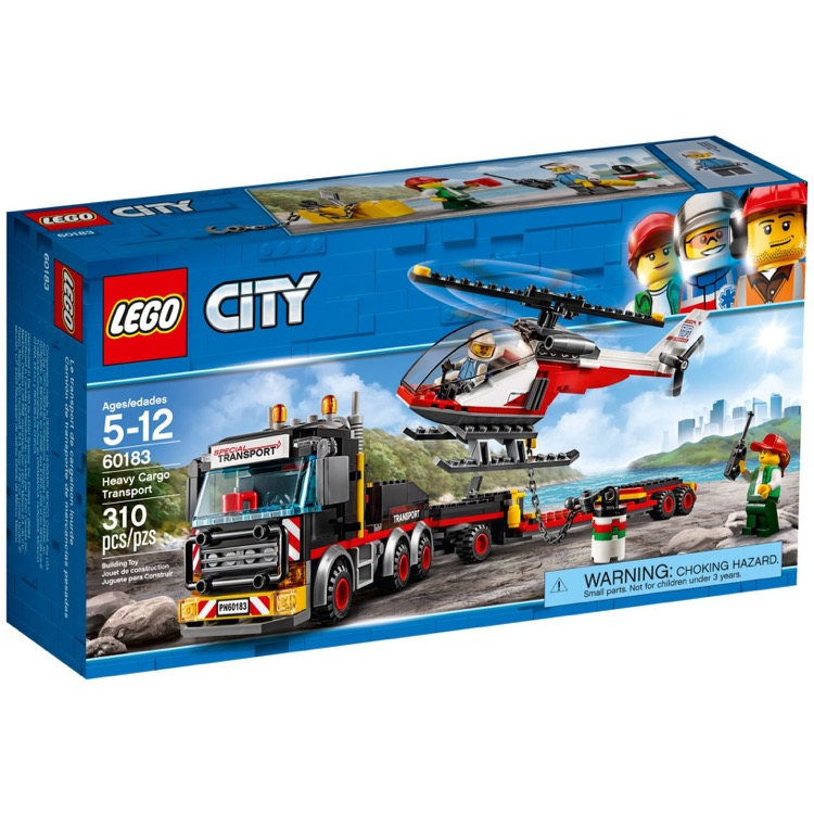 LEGO Town Sets: City 60183 Heavy Cargo Transport NEW *Rough Shape*