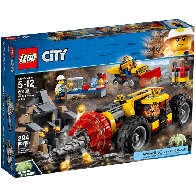 LEGO Town Sets: City 60186 Mining Heavy Driller NEW