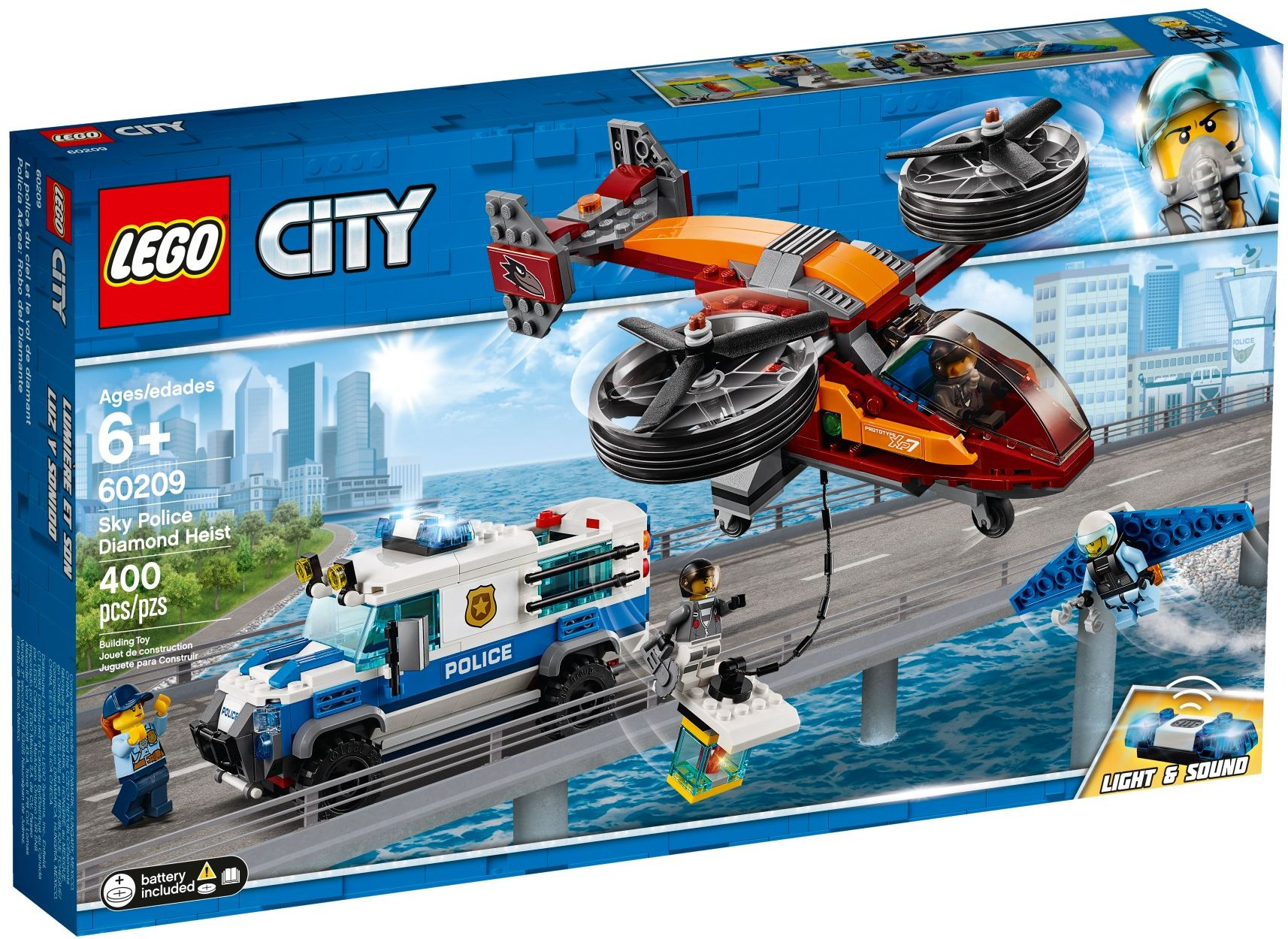 LEGO Town Sets: 60209 City Diamond Heist NEW