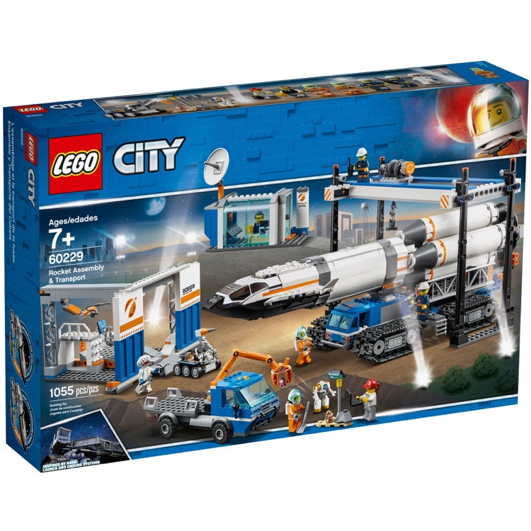 LEGO Town Sets: City 60229 Rocket Assembly & Transport NEW *Rough Shape*