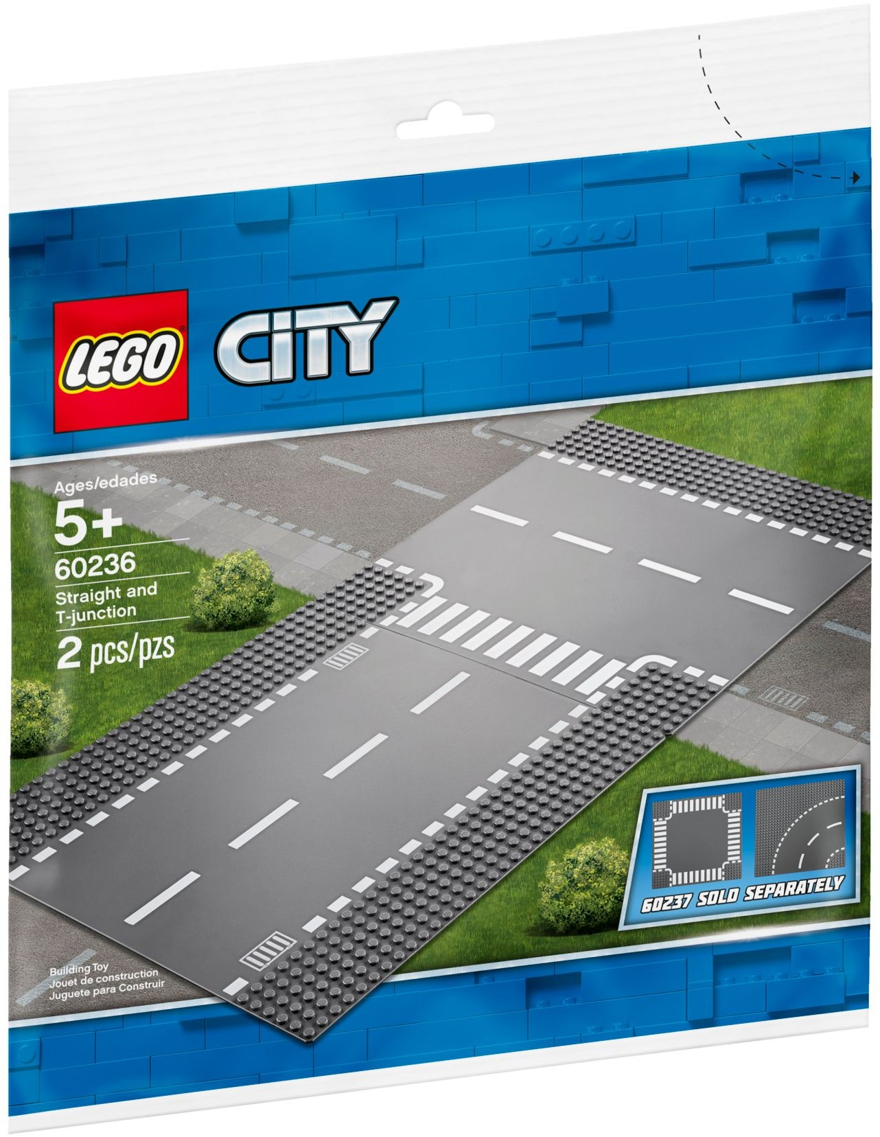 LEGO Town Sets: 60236 City Straight & T-Junction  NEW
