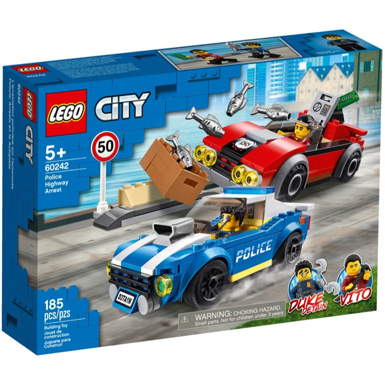 LEGO Town Sets: City 60242 Police Highway Arrest NEW
