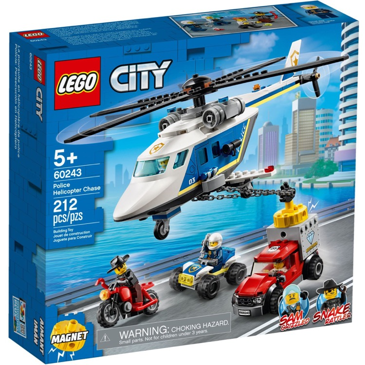 LEGO Town Sets: City 60243 Police Helicopter Chase NEW