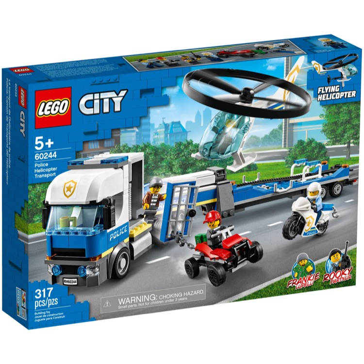 LEGO Town Sets: City 60244 Police Helicopter Transport NEW