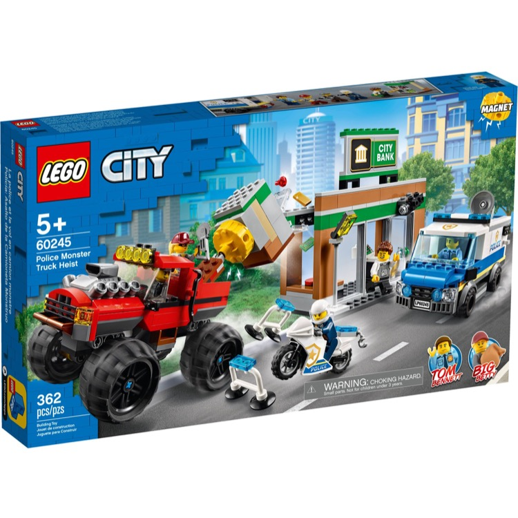 LEGO Town Sets: City 60245 Police Monster Truck Heist NEW