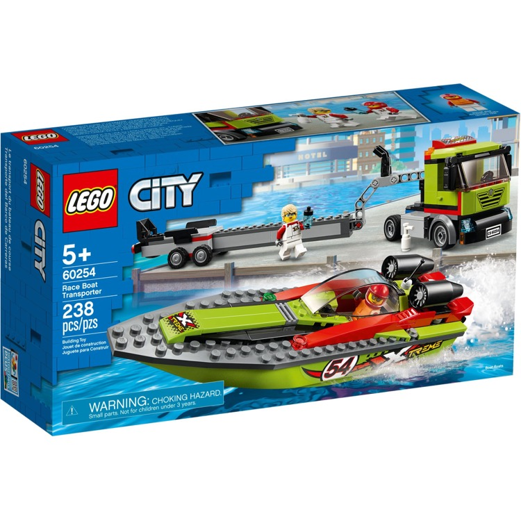 LEGO Town Sets: City 60254 Race Boat Transporter NEW