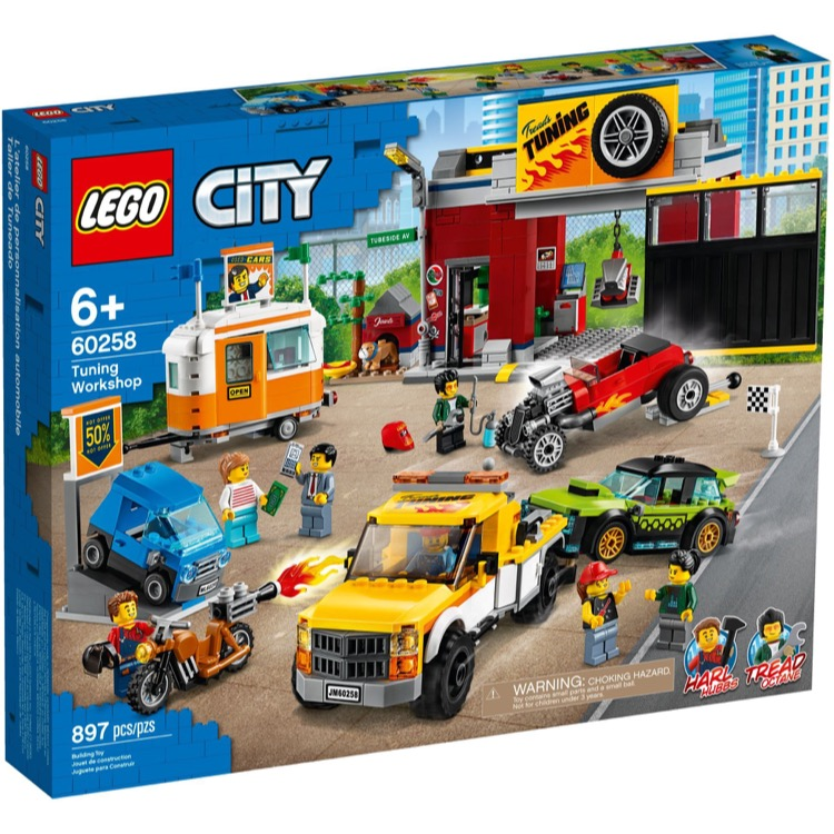 LEGO Town Sets: City 60258 Tuning Workshop NEW