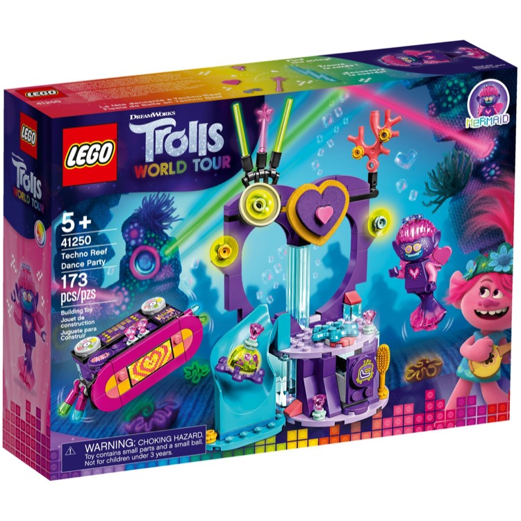 LEGO Trolls World Tour Sets: 41250 Techno Reef Dance Party NEW