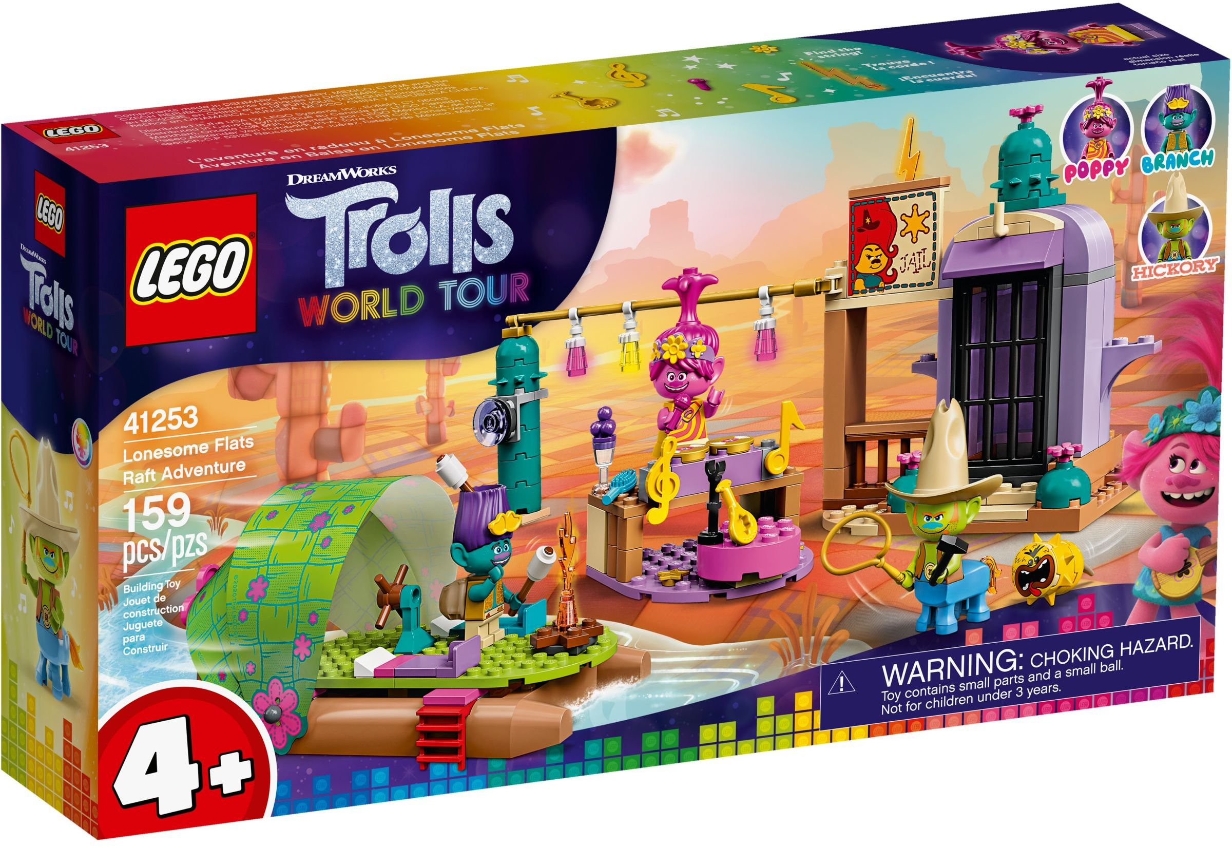 LEGO Trolls World Tour Sets: 41253 Lonesome Flats Raft Adventure NEW