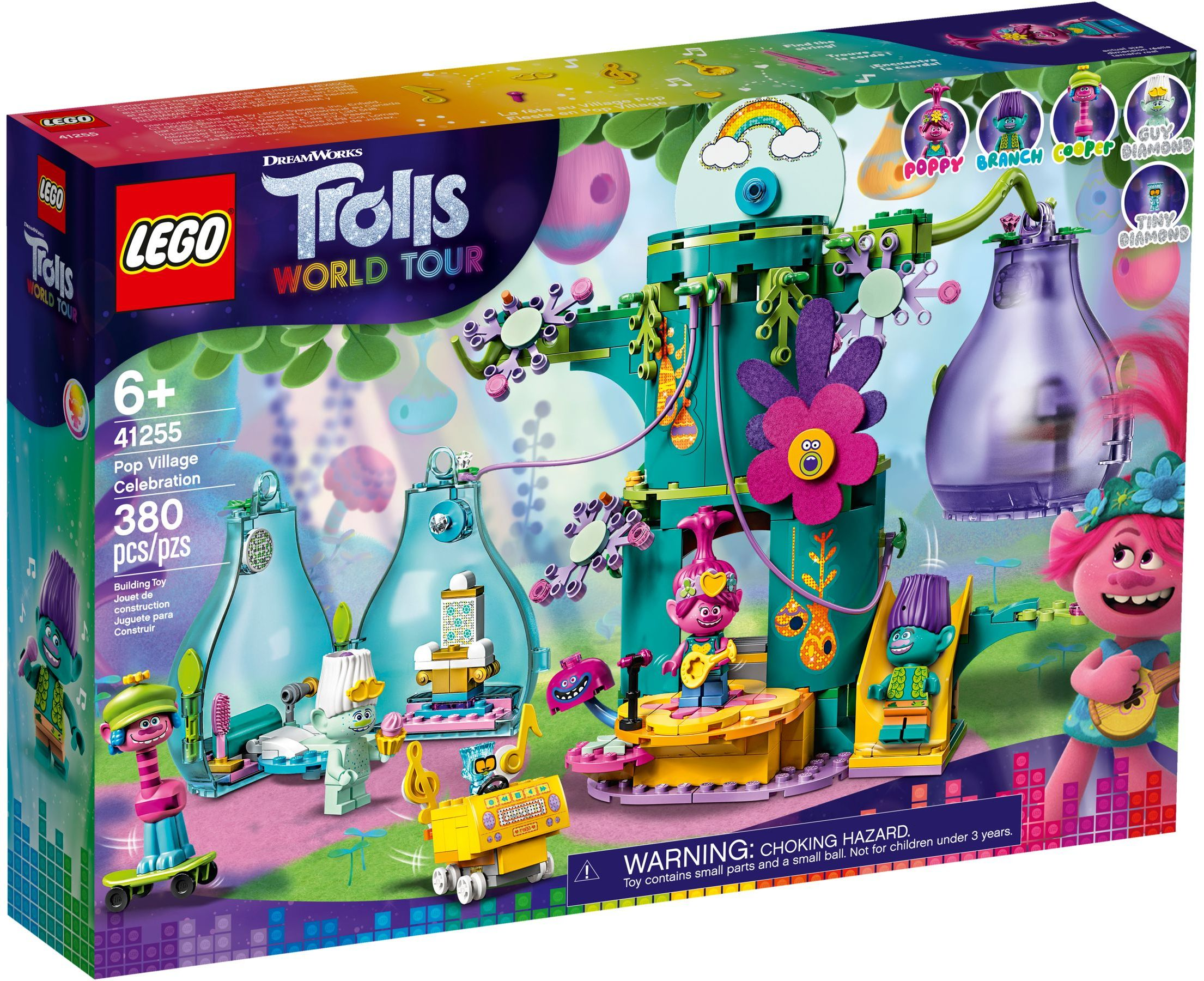 LEGO Trolls World Tour Sets: 41255 Pop Village Celebration NEW
