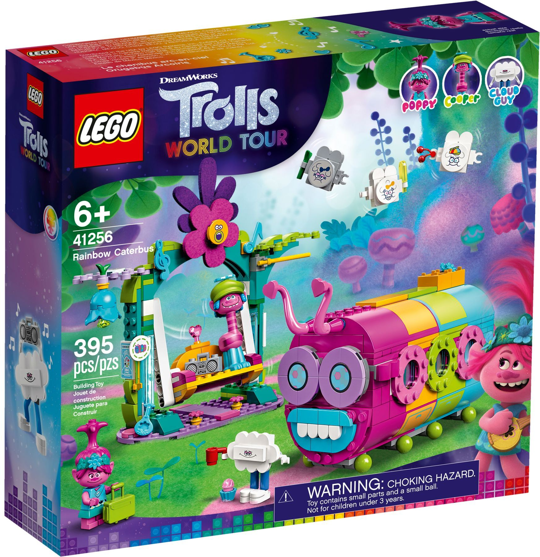 LEGO Trolls World Tour Sets: 41256 Rainbow Caterbus NEW