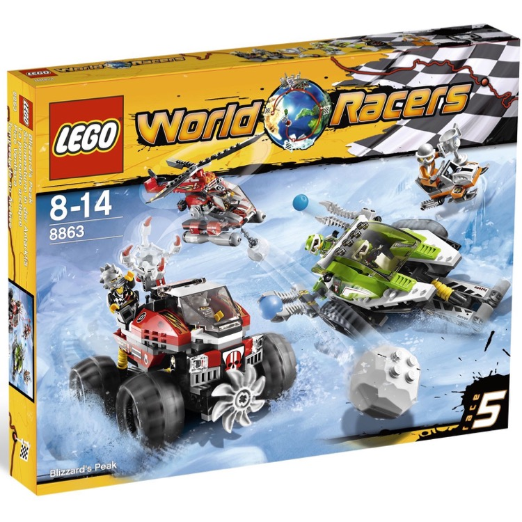 LEGO World Racers Sets: 8863 Blizzard's Peak NEW