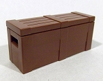 BrickArms: Crate with Lid (Brown)