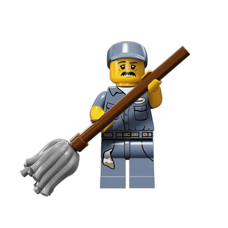 LEGO Collectible Minifigures: 71011 Series 15 Janitor NEW