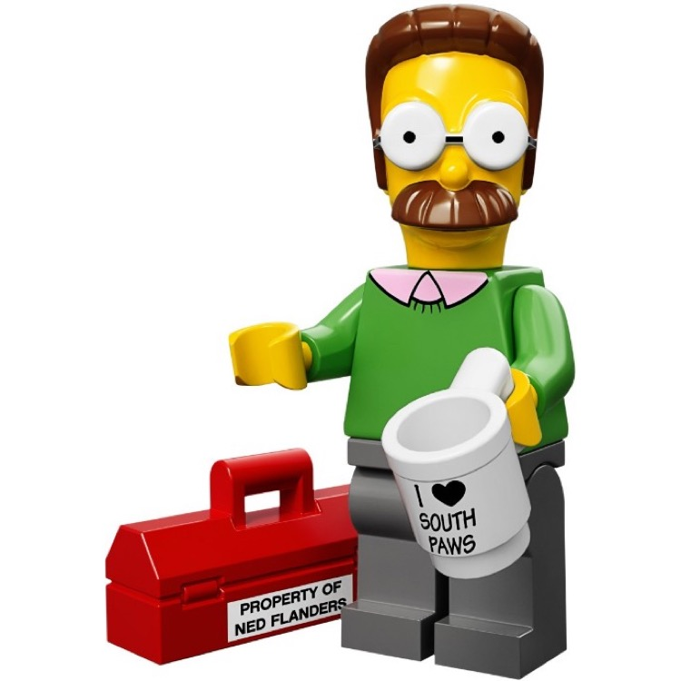LEGO Collectible Minifigures: 71005 The Simpsons Series Ned Flanders NEW