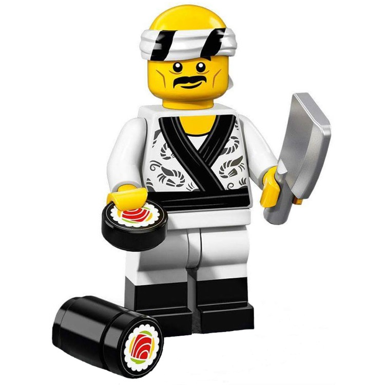 LEGO Collectible Minifigures: 71019 The LEGO Ninjago Movie Series Sushi Chef NEW