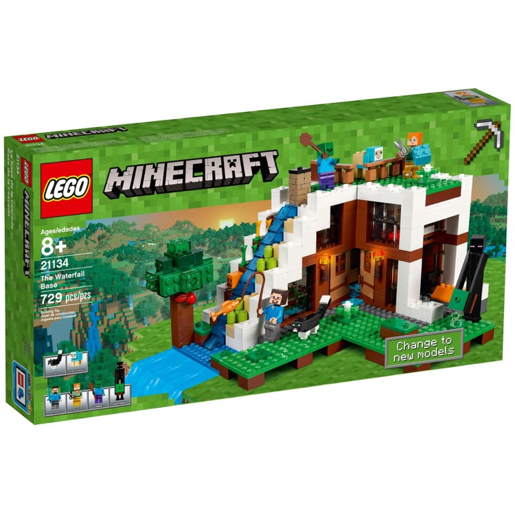 LEGO Minecraft Sets: 21134 The Waterfall Base NEW
