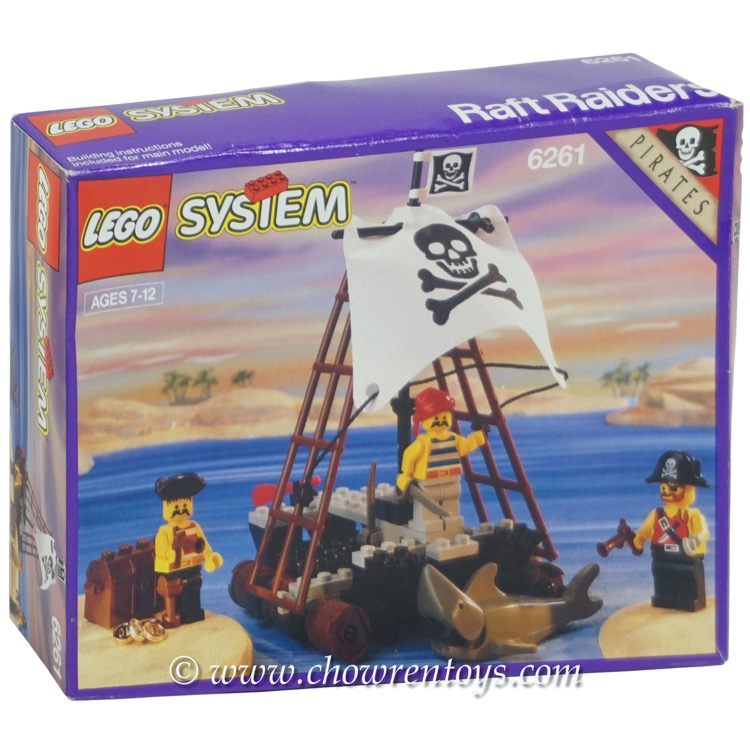 LEGO Pirates Sets: 6261 Raft Raiders NEW *Rough Shape*