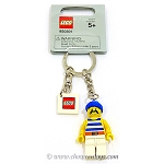 LEGO Pirates Sets: 850301 Pirate with Blue / White Stripes Shirt, White Legs and Blue Bandana Key Chain NEW