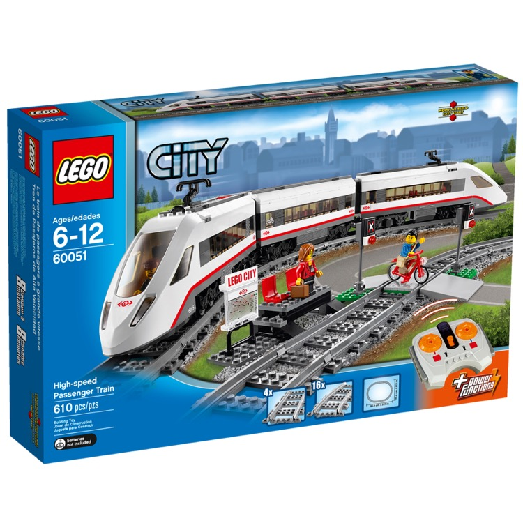 LEGO Trains Sets: Remote Control 60051 High-speed Passenger Train NEW