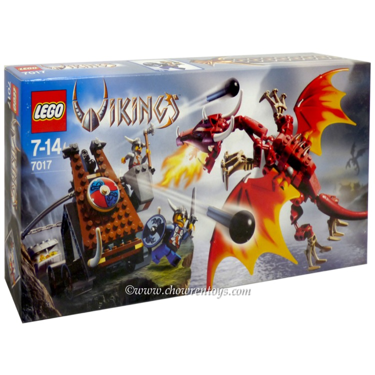 LEGO Vikings Sets: 7017 Viking Catapult vs. Nidhogg Dragon NEW