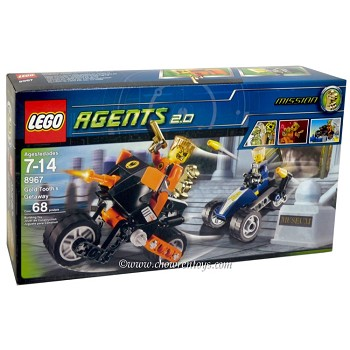LEGO Agents Sets: 8967 Gold Tooth's Getaway NEW
