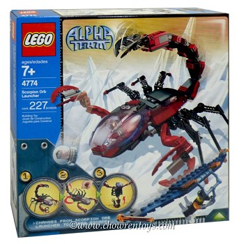 LEGO Alpha Team Sets: 4774 Scorpion Orb Launcher NEW