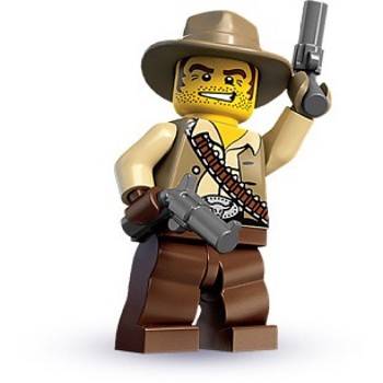 LEGO Collectible Minifigures: 8683 Series 1 Cowboy NEW