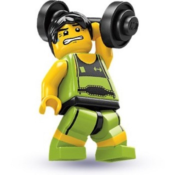 LEGO Collectible Minifigures: 8684 Series 2 Weightlifter NEW