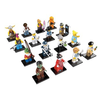 LEGO Collectible Minifigures: 8804 Series 4 A Collection of all 16 NEW