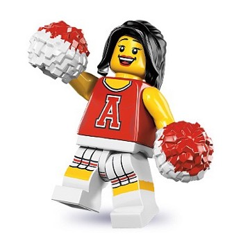 LEGO Collectible Minifigures: 8833 Series 8 Red Cheerleader NEW