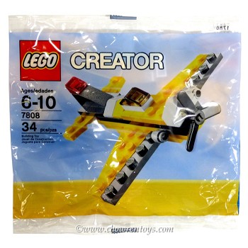 LEGO Creator Sets: 7808 Yellow Airplane NEW