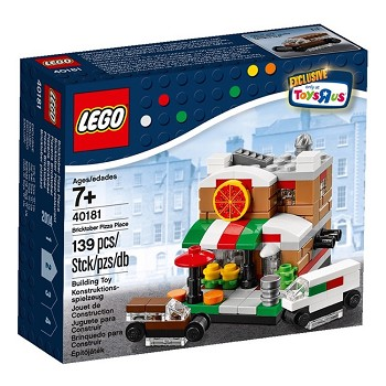 "LEGO Exclusives Sets: 40181 Toys""R""Us Promotional Bricktober Pizza Place NEW"