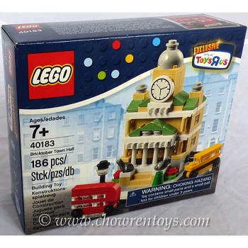 "LEGO Exclusives Sets: 40183 Toys""R""Us Promotional Bricktober Town Hall NEW"