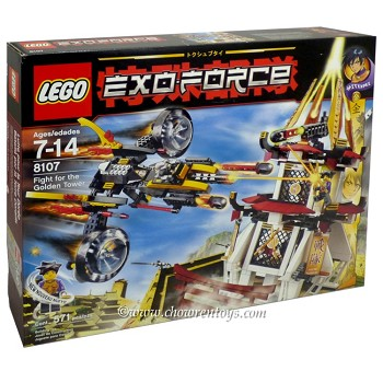 "LEGO Exo-Force Sets: 8107 Fight for the Golden Tower NEW ""Rough Shape"""