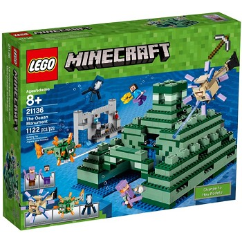 LEGO Minecraft Sets: 21136 The Ocean Monument NEW