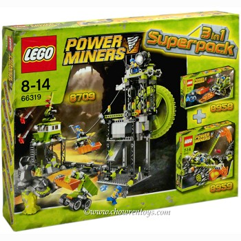 LEGO Power Miners Sets: 66319 Power Miners Super Pack 3 in 1 NEW