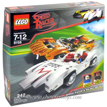 LEGO Speed Racer 8158 Speed Racer & Snake Oiler NEW